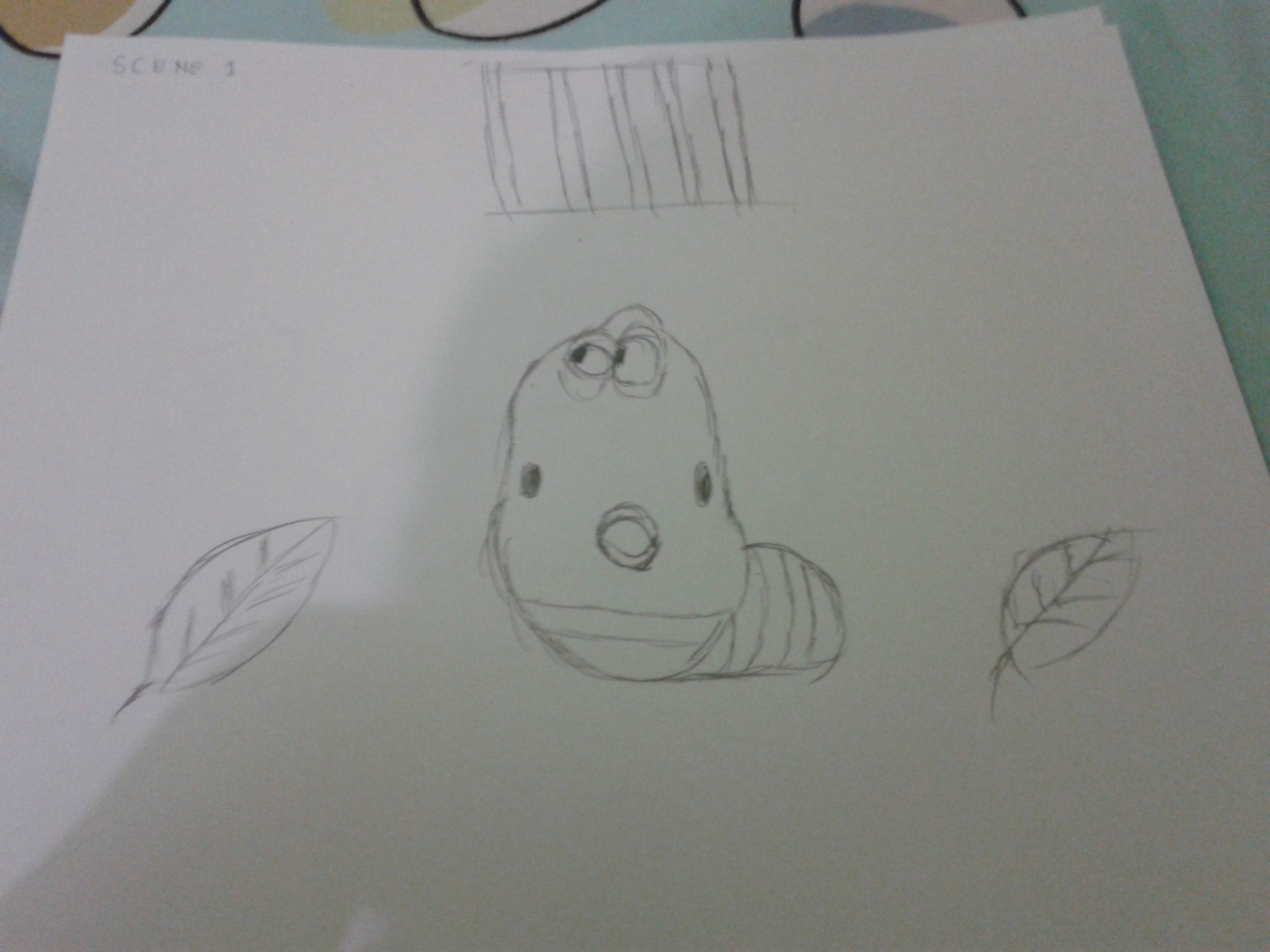 Kumpulan Gambar Sketsa Kartun Larva